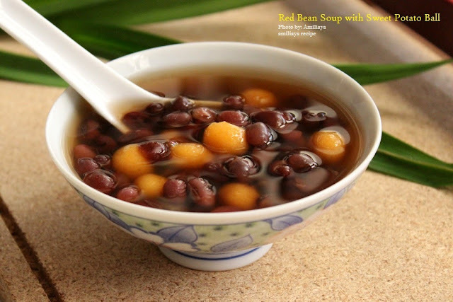 Red Bean Soup with Sweet Potato Ball 红豆番薯圆汤