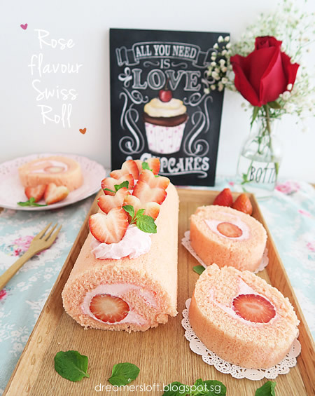 Rose-flavour Swiss Roll
