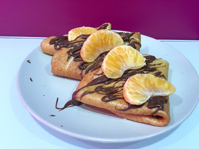 Crepes proteicas con chocolate fit