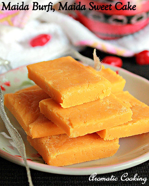 Maida Burfi, Sweet With All Purpose Flour