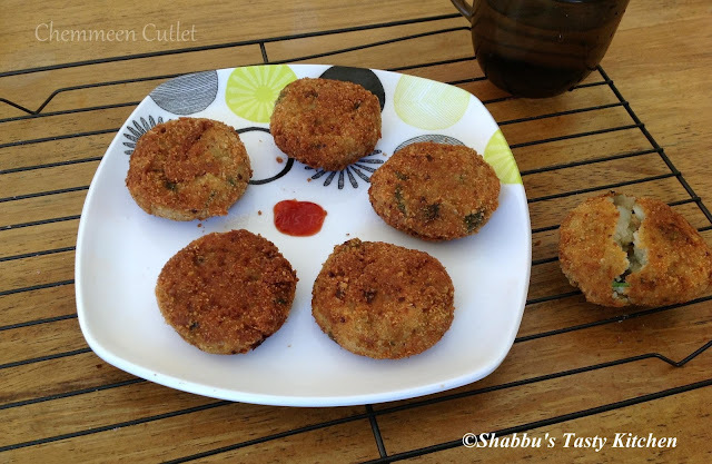 Chemmeen Cutlet / Prawns Cutlet