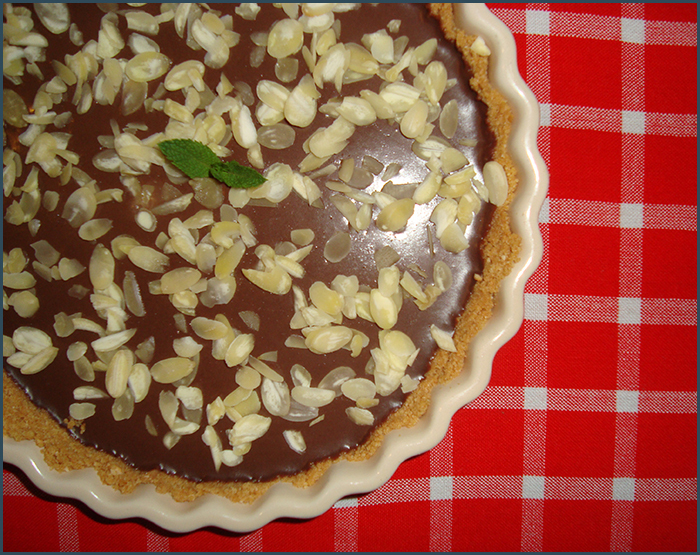 No bake chocolate and almond tart