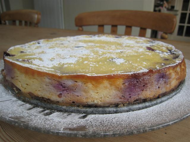Jubilee Baked Blueberry Cheesecake (Gluten Free)