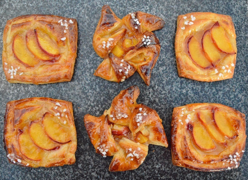 Quick and easy peach Danish pastries