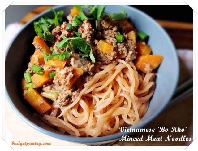 Guest post from Budget Pantry: Vietnamese 'Bo Kho' Minced Meat Noodles
