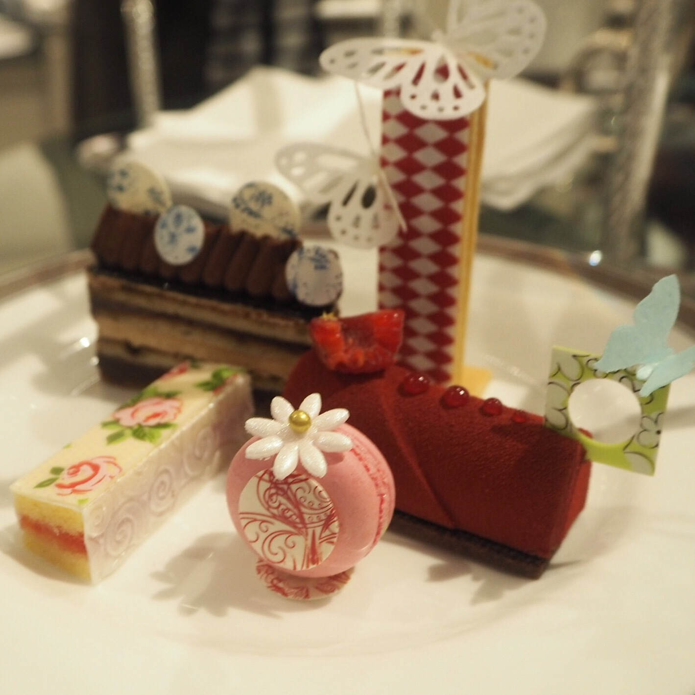 Langham Afternoon Tea with Wedgwood collection, created by Executive Pastry Chef, Cherish Finden