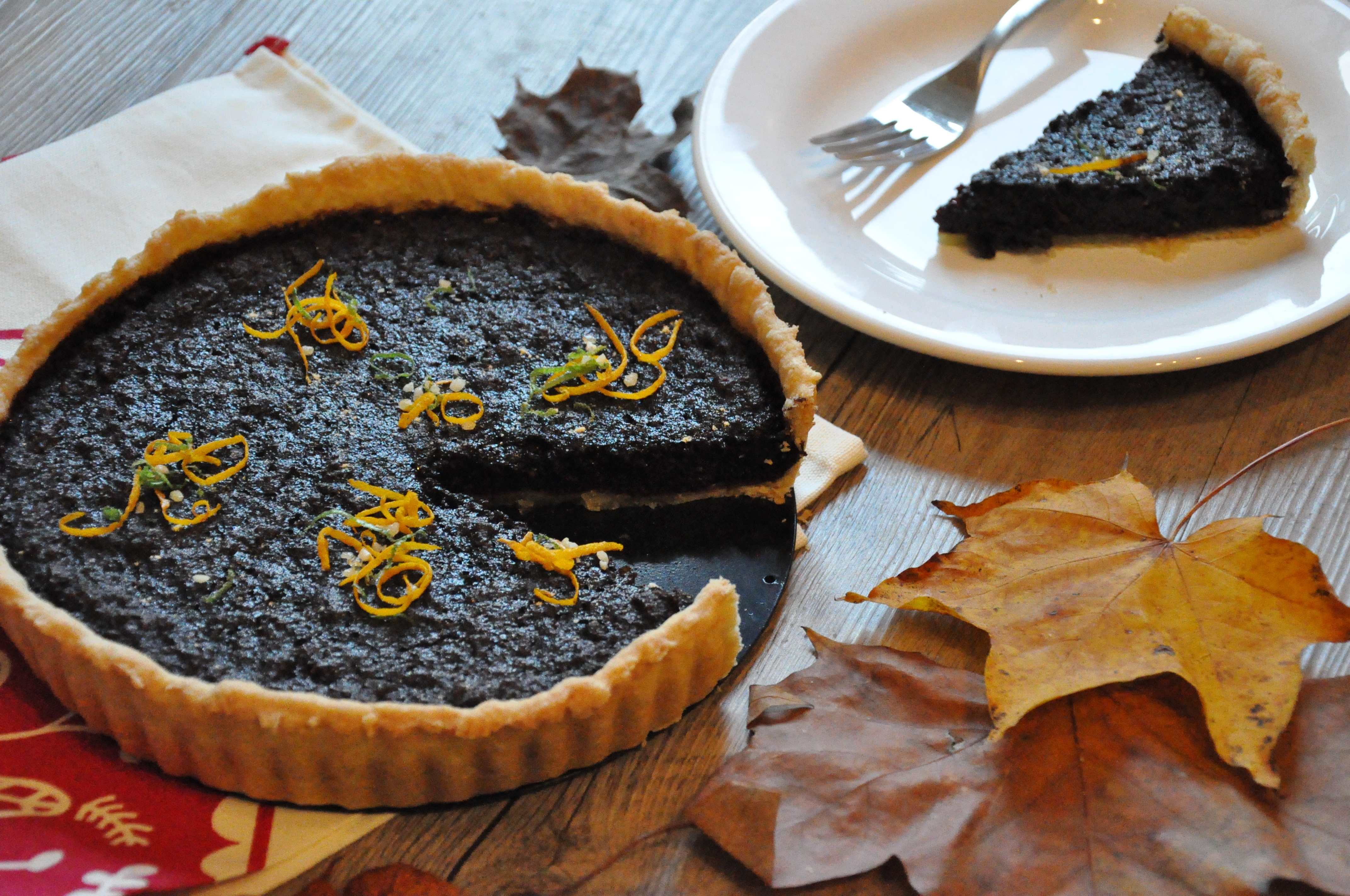 Bonfire Treacle Tart