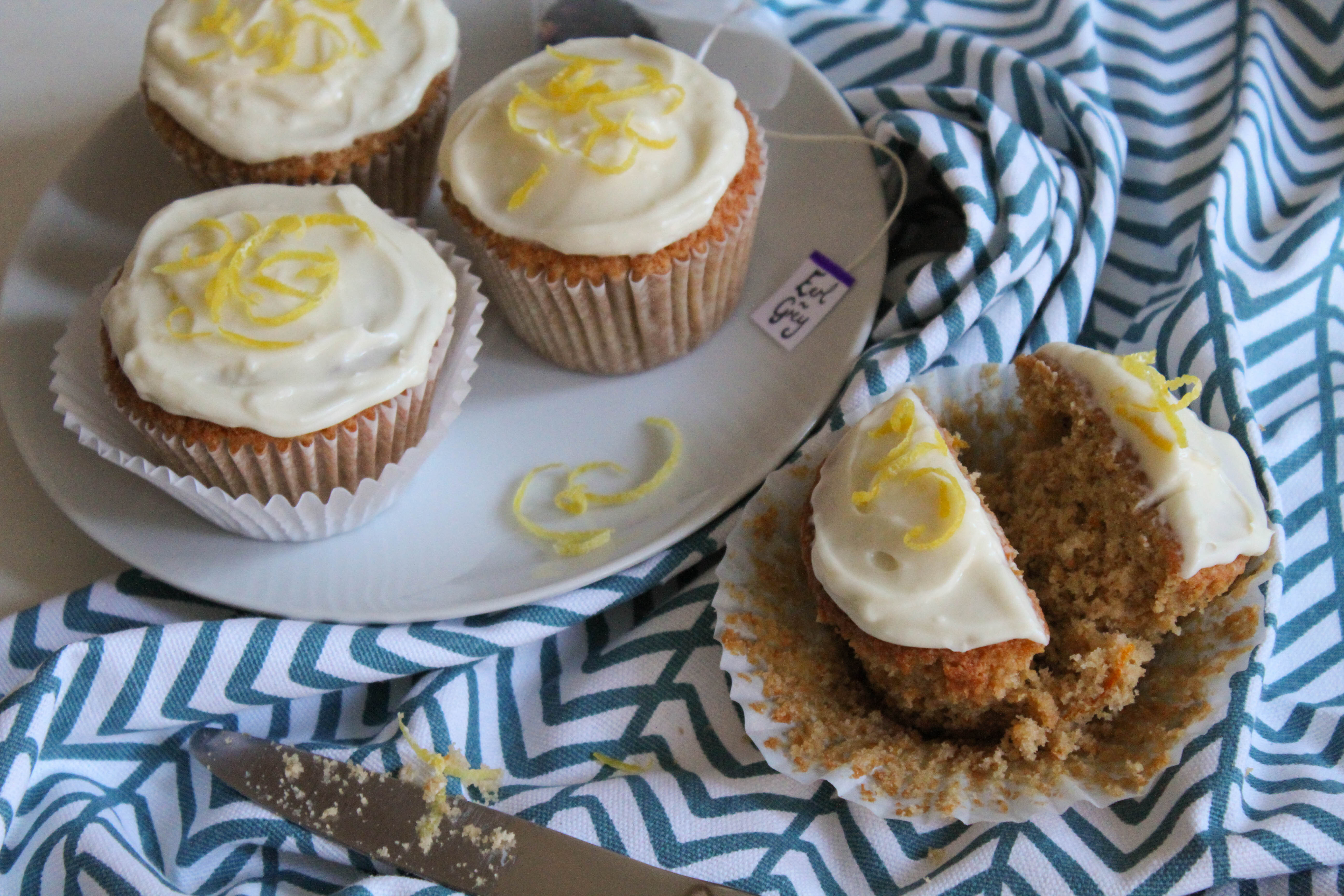 Earl Grey Cupcakes with Lemon Marscapone Buttercream
