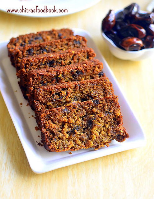 Eggless Dates Cake Recipe With Whole Wheat Flour & Oats