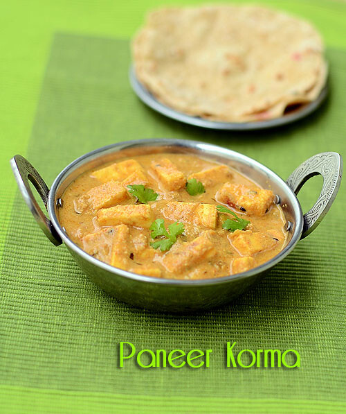 Paneer Korma Recipe ( Mughlai ) - Paneer Recipes