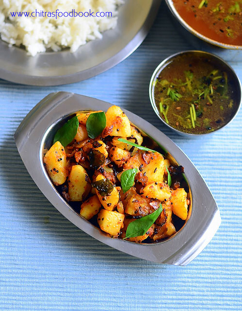 Simple Potato Poriyal Recipe – Boiled Potato Curry For Rice - Urulai Kizhangu Poriyal