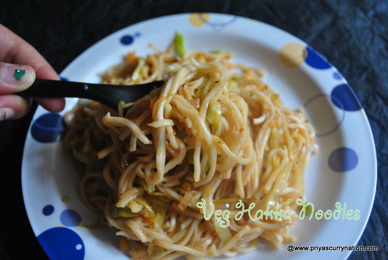 vegetable hakka noodles with schezwan touch recipe, how to make veg hakka noodles at home
