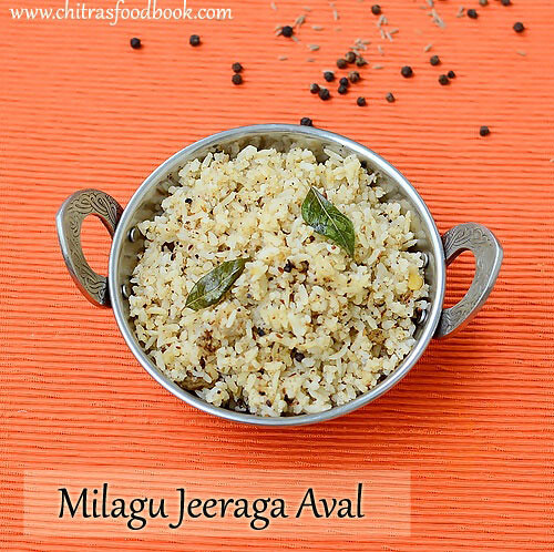 Milagu Jeeraga Aval Recipe – Poha Recipes