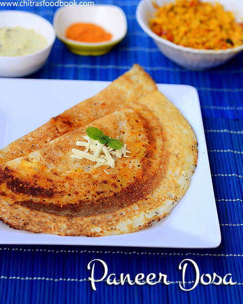 Paneer Dosa Recipe – Dosa Varieties