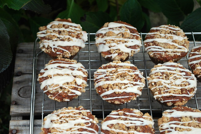 Coffee Cake Gingerbread Muffins with Streusel Topping