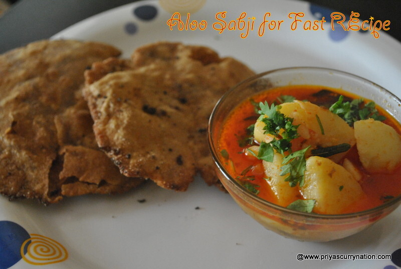 Vrat Aloo subji & rajgira puri recipe, how to make Amarnanth puri bhaji for fasting