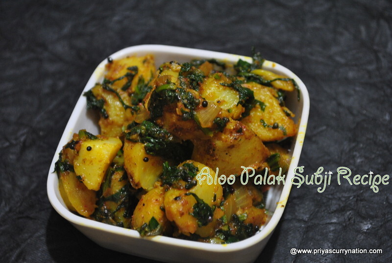 Aloo Palak Dry subzi Recipe , how to make Sukha alu palak subji
