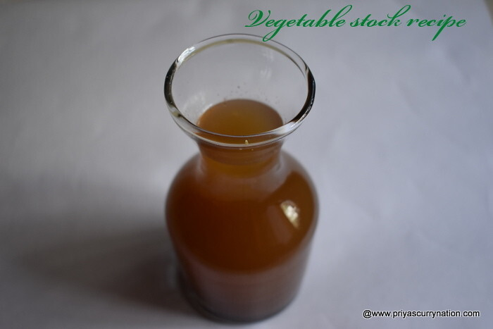 basic vegetable stock recipe , how to make vegetable stock at home