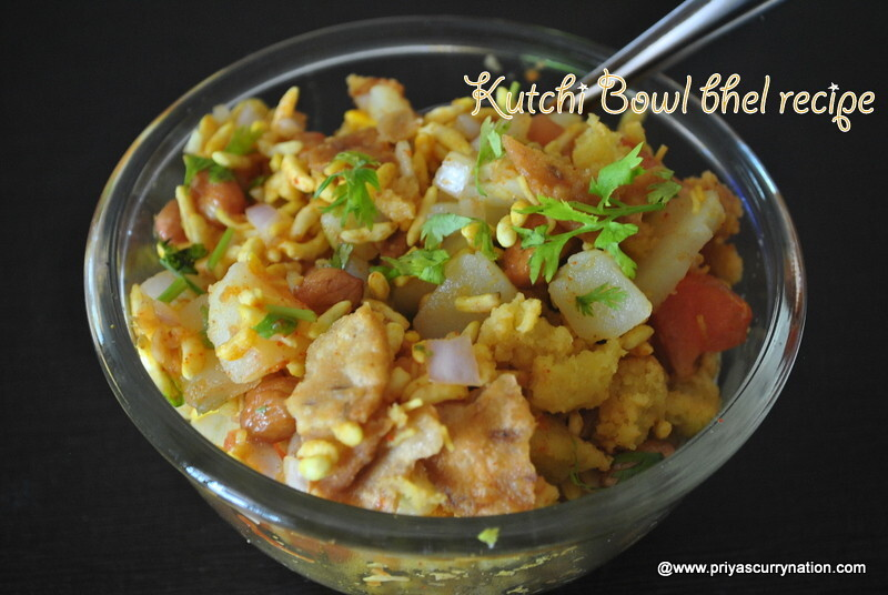 Kutchi bowl bhel recipe ,how to make bhel in kutchi style at home