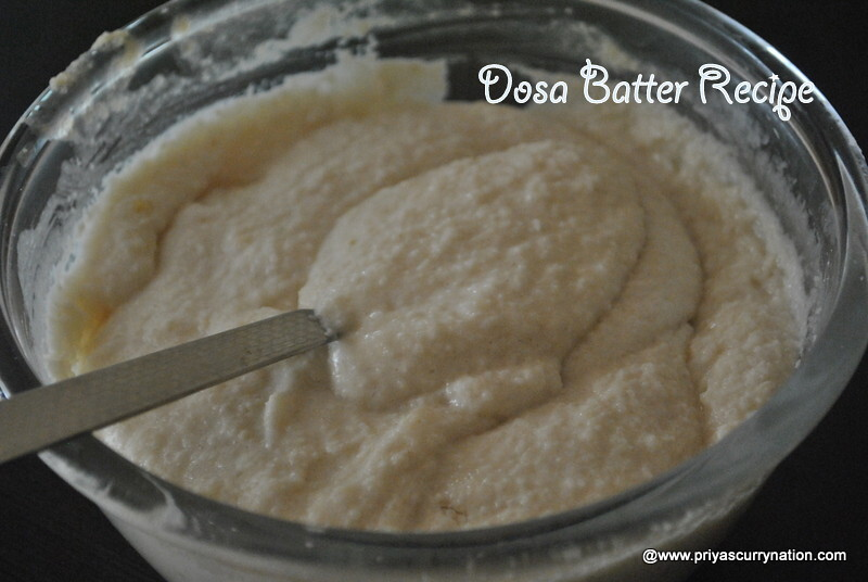 Dosa Batter Recipe, how to make Dosa batter for crispy dosa at home