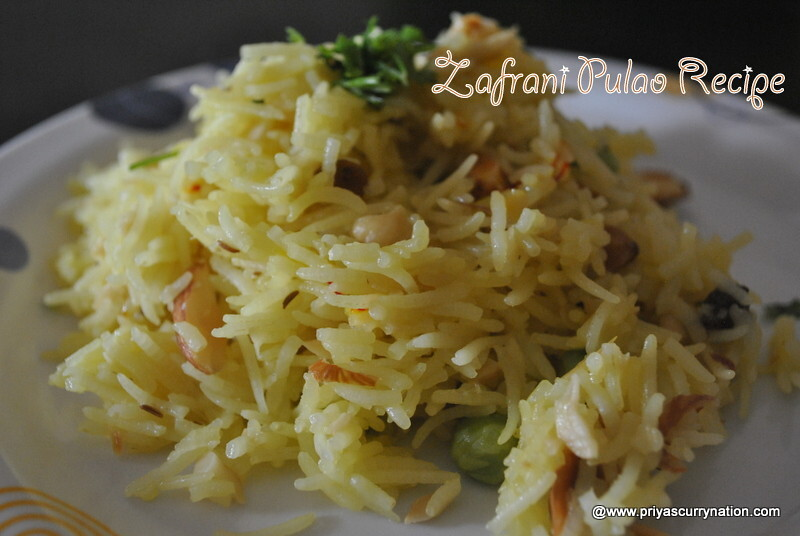 Zafrani Pulao Recipe, how to make easy saffron rice|Pulav at home