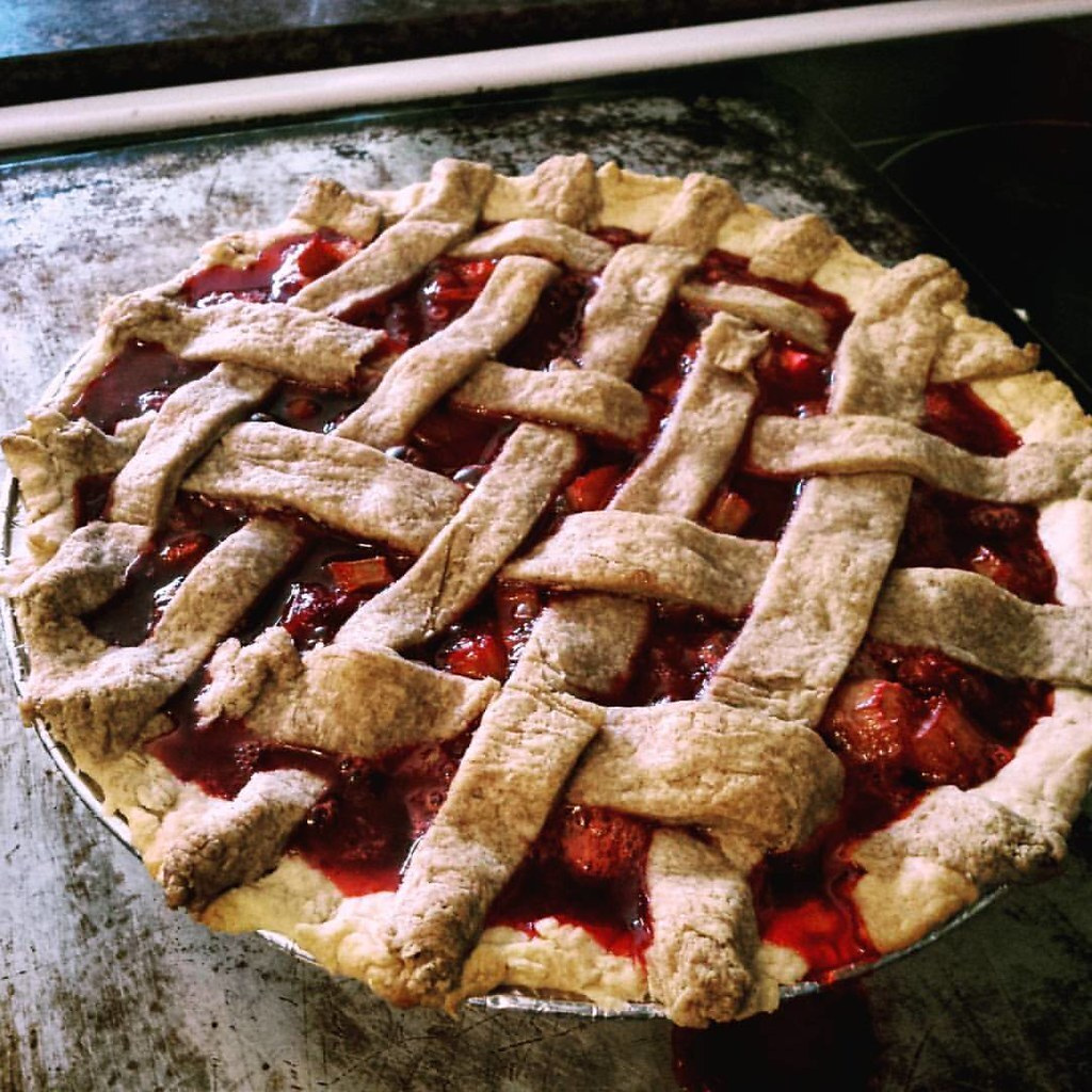 Drop - Dead Simple Strawberry Rhubarb Pie