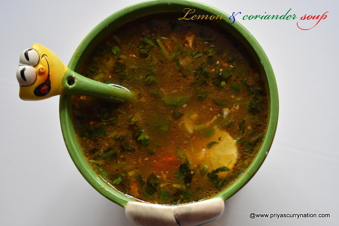 thai lemon coriander soup recipe,how to make lemon and coriander soup at home