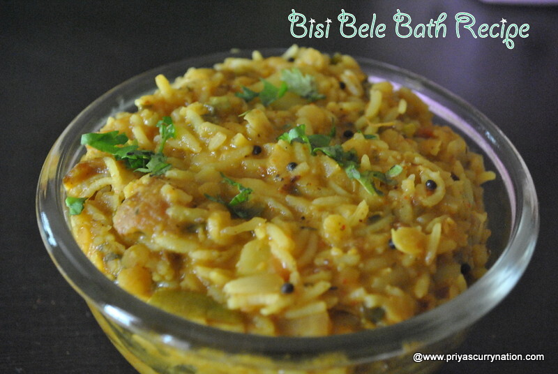 Bisi Bele Bath Recipe, how to make bisi bele bhath at home