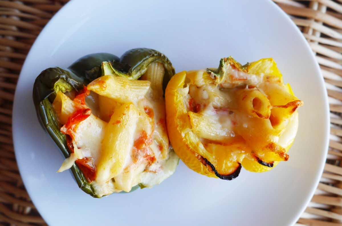 Pasta Bake Stuffed Peppers