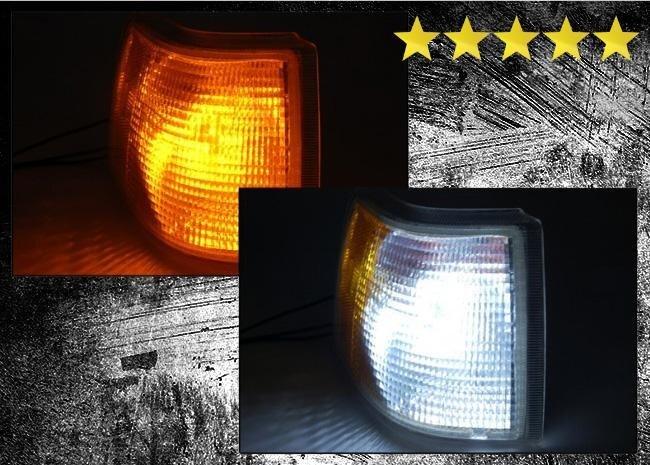 Kombinerad blinkers/positionsljus LED vit/gul