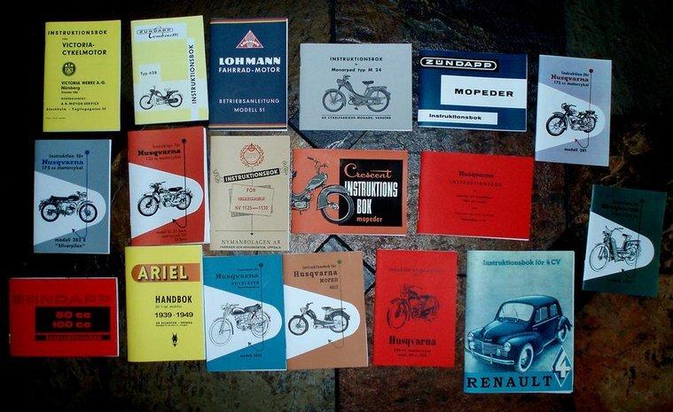 Instruktionsböcker till Veteran-Mc & Mopeder
