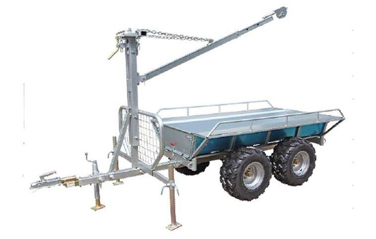 Worker ATV Kombivagn med flak samt kran