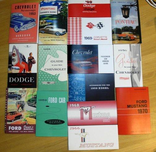 Instruktionsböcker till USA Bilar