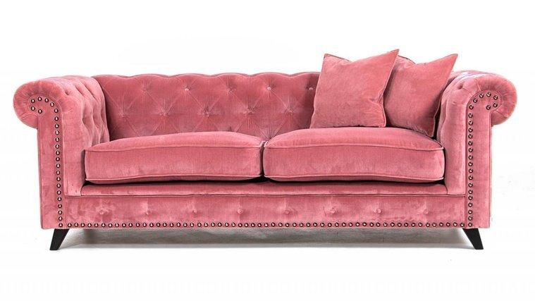 Chesterfield soffa i sammet