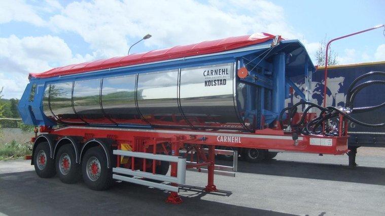 KOLSTAD asfalt trailer tipp schakt 44.5t