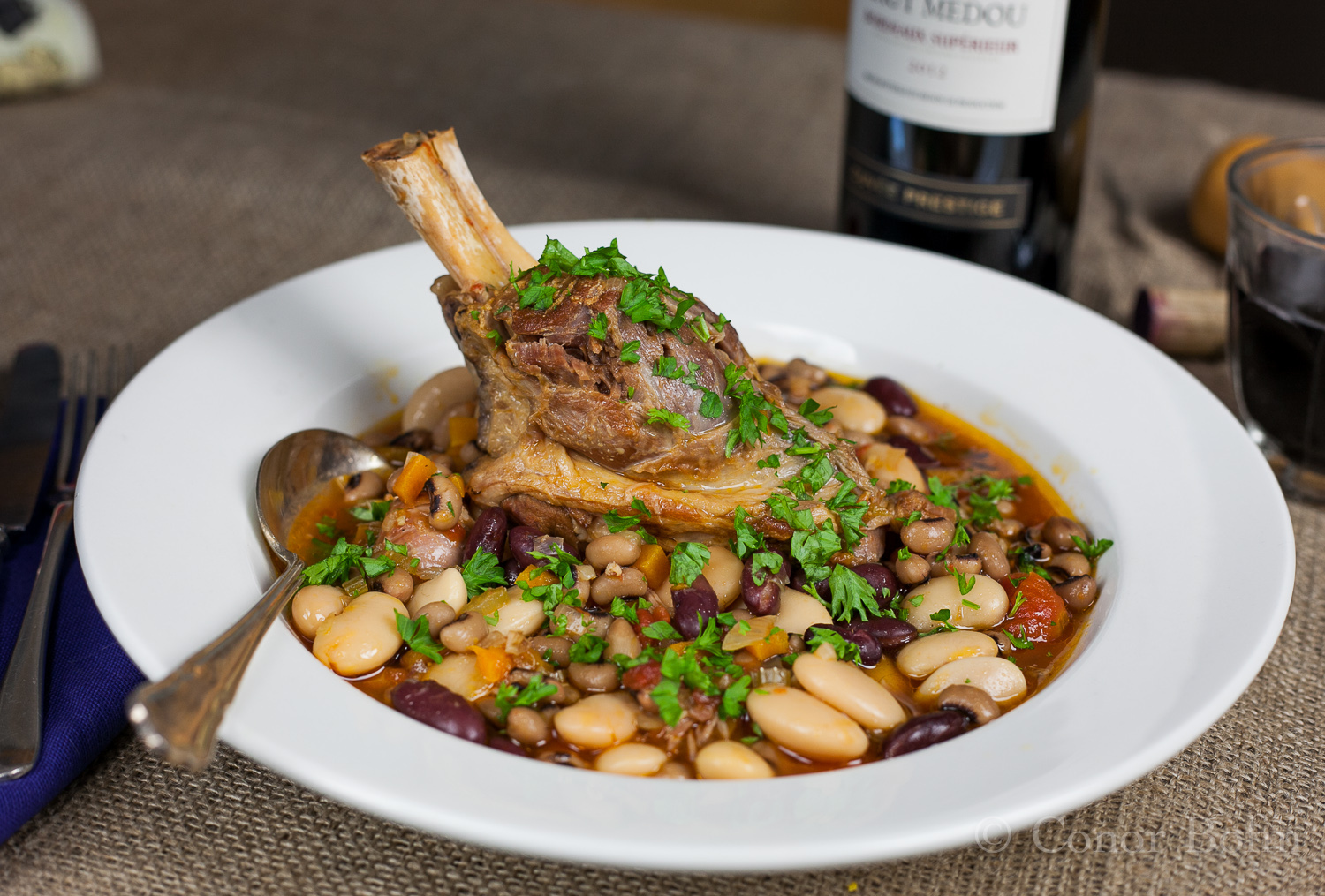 Lamb Shank and Bean Casserole – Failing to Impress the Diners.