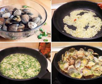 Recetas de congelar almejas cocinadas mytaste for Como cocinar almejas