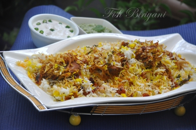 Kerala Fish Biriyani -Simple and Delicious