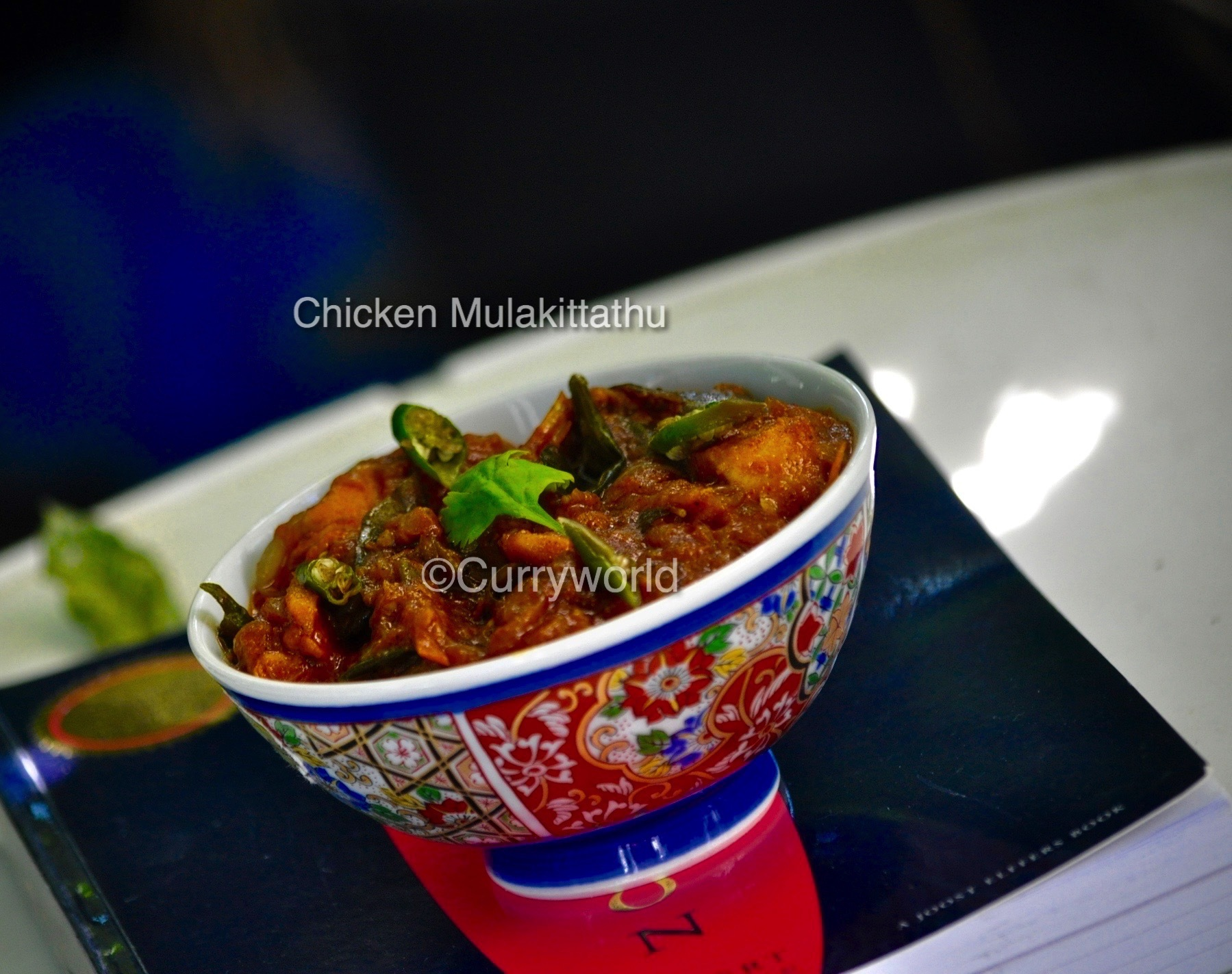 Chicken Mulakittathu/Spicy Kerala Chicken Curry in Chilli-Tomato Gravy