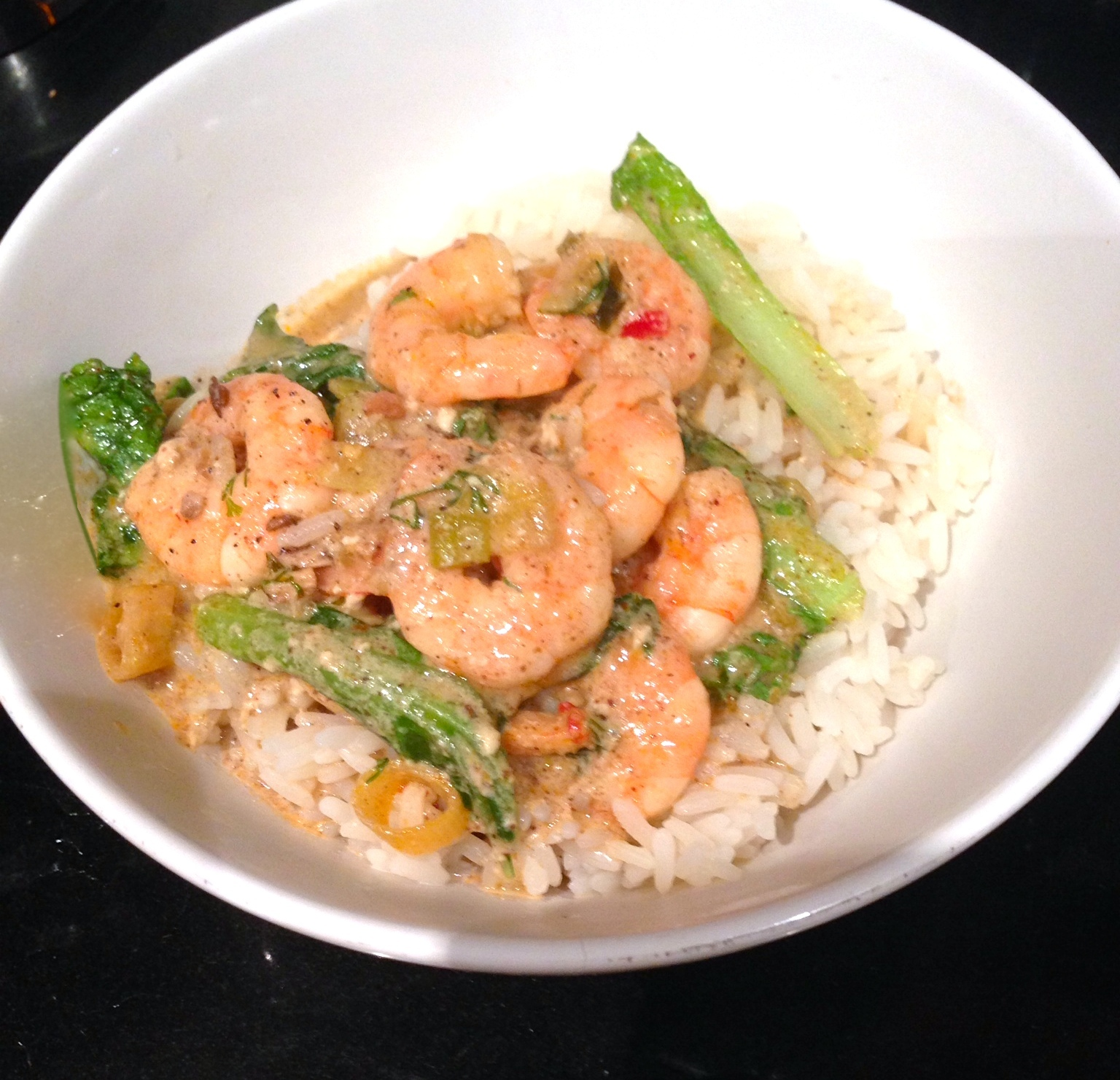 Prawn and Pak Choi Quick Coconut Curry