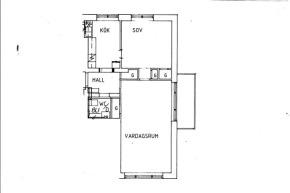 2 rums lägenhet på 59 m²
