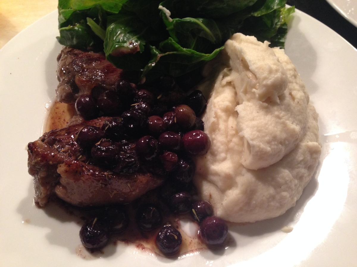 Venison Steaks and Celeriac Mash