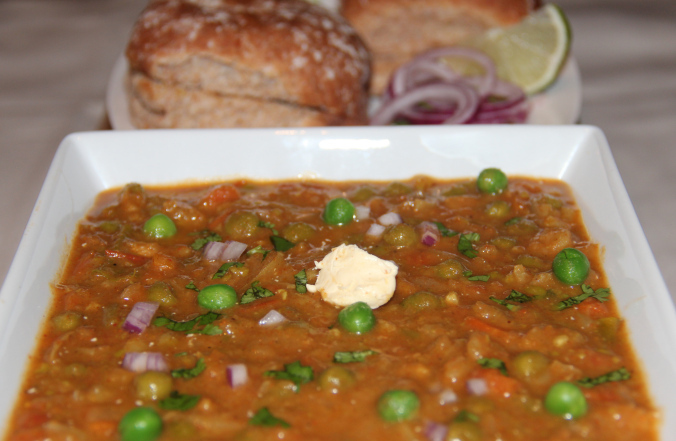 Pav Chickpeas Bhaji (With No Potatoes)