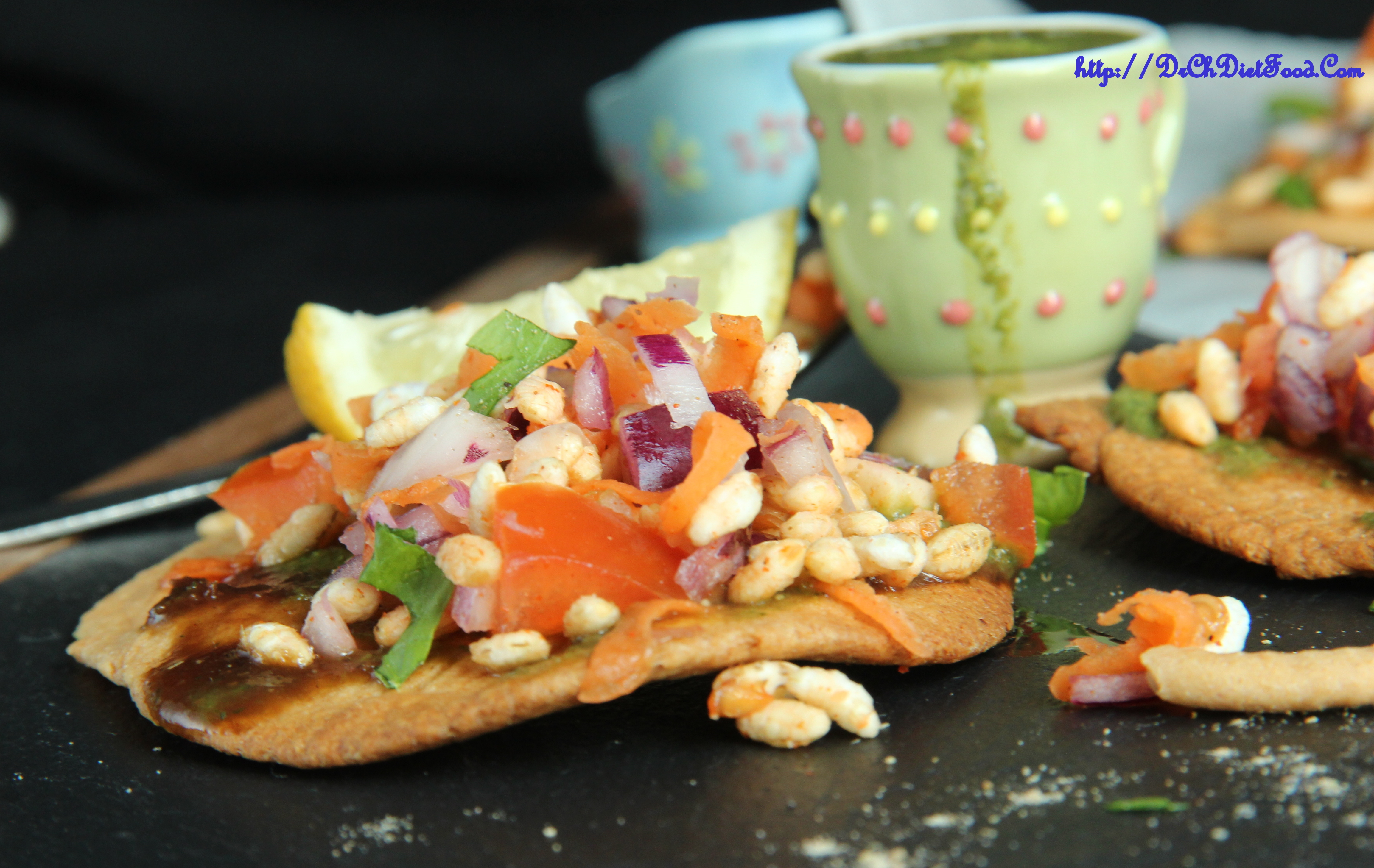 Layered Crackers Canapés/Chats