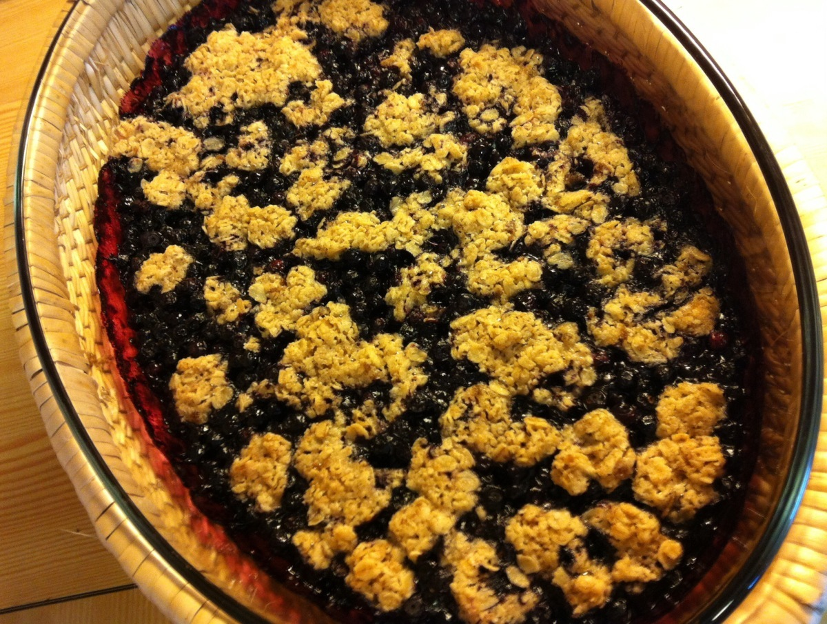 Low FODMAP Blueberry Crumble