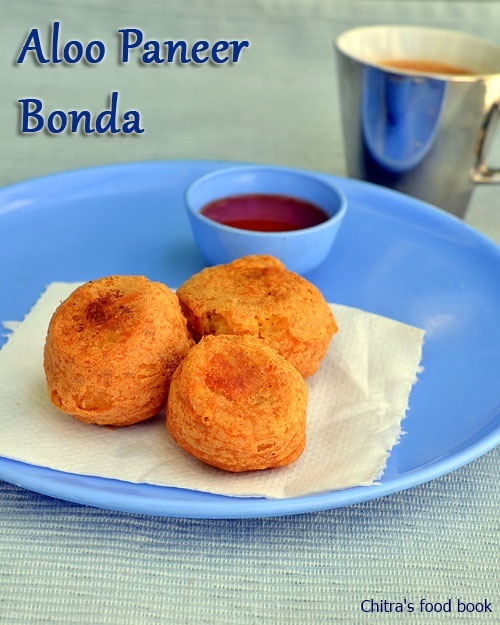 Aloo Paneer Bonda Recipe-Snacks Recipes