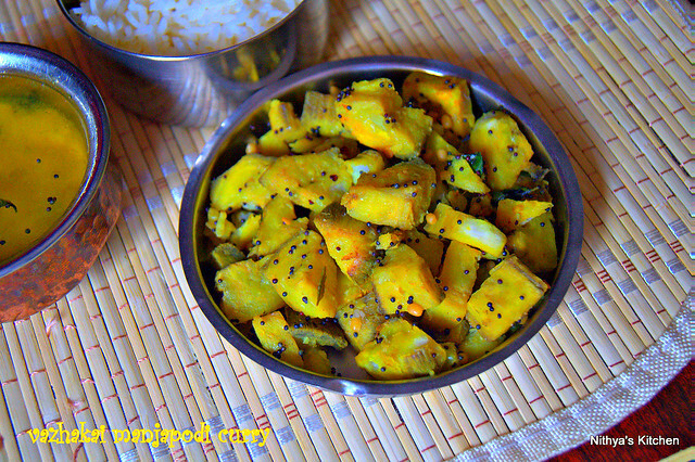 VAZHAIKAI MANJAPODI CURRY/RAW BANANA TURMERIC CURRY
