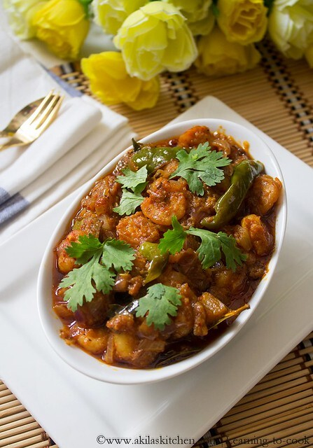 andhra style prawn curry