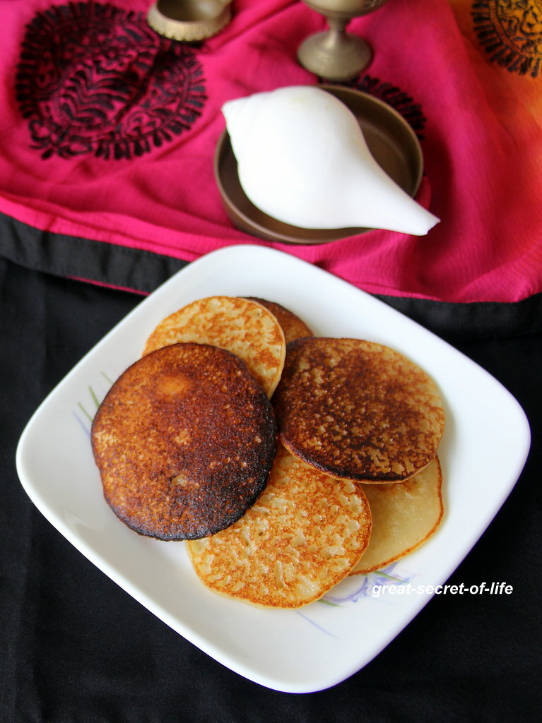 Surnali recipe - Sweet and Spongy Dosa - Healthy sweet dosa - Festival recipe - Simple Pooja recipes - Simple Festivals recipe - Simple naivedyam recipes