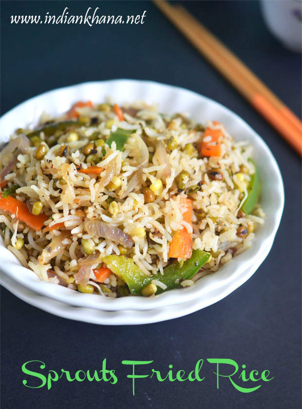 Sprouts Fried Rice Recipe | Easy Lunch Box Recipes